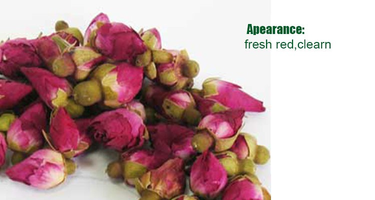 Healthy Dried Whole Rosebud , Dried Chinese Rose With Fresh Red