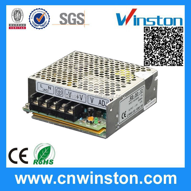 RS-50-12 High quality Mini Single Output 12v 50w switching power supply