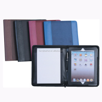 Multifunction A4 Zippered PU Leather Portfolio Case For iPad Tablet Universal Protective
