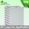 New arrival Sublimation hard plastic cover case for Ipad Air