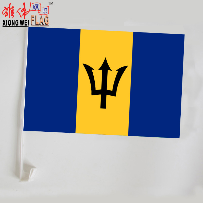 wholesale custom different countries and Barbados National car flags