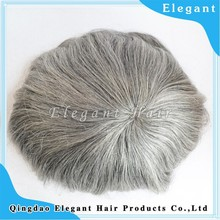 New products on china market indian virgin hair mono lace gray hair men toupee