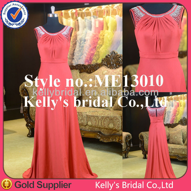 Kelly's bridal gown elegant modest sheath dress cheap red bridesmaid dress Anti-Static,Anti-Wrinkle and Adults Age Group dress