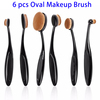 Private Label Cosmetics Make up Brushes, 6 Pcs Oval Makeup Brush Set