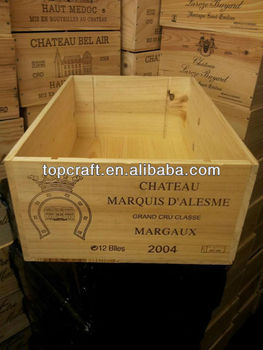 Vintage wooden wine crate for sale buy wooden wine for Where can i find old wine crates