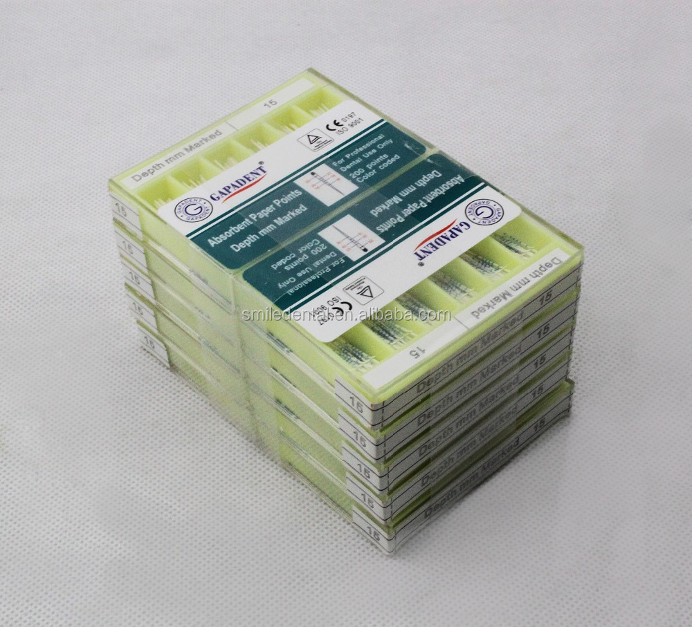 2015 new packing dental absorbent paper points gapadent