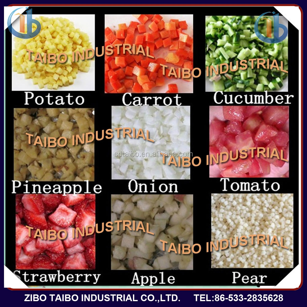 Industrial vegetables fruits cube cutter frutas vegetais cortador cubo for South America