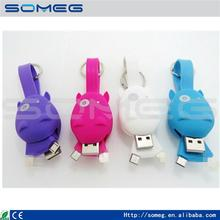 Portable Keychain Micro USB Data Cable Connector Mobile Phone Chargers Cable For iPhone 5S 6S 6 Plus Samsung