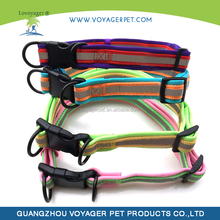 Lovoyager pet accessories nylon reflective dog collar for small dog