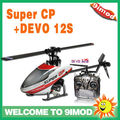 Walkera Super CP mini remoter control rc helicopter W/T DEVO 12S Transmitter