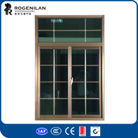 ROGENILAN 76 series champagne color with sliding window seals safety window grill design