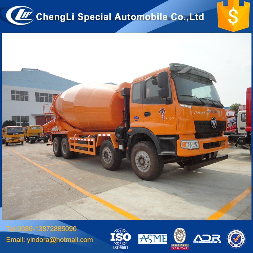 14 15 16 cbm foton new hydraulic pump manual feed mixer trucks for sale