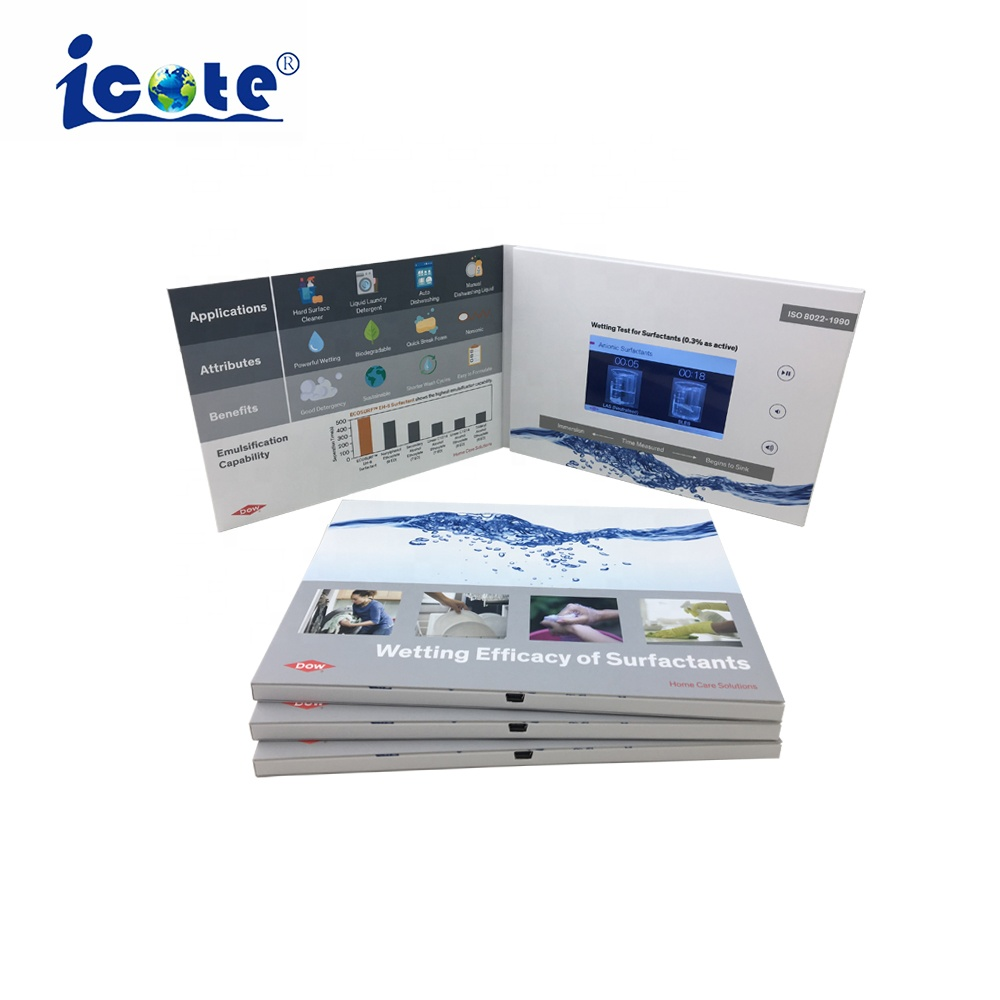 Cote 2019 Lcd wedding card invitation greeting video brochure ,business lcd video brochures