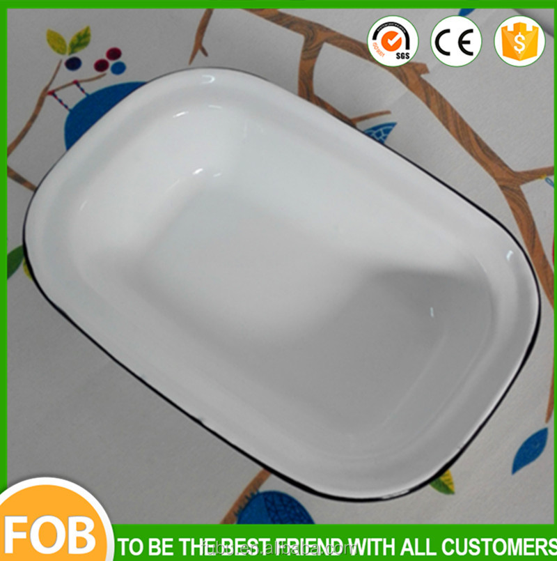 Safty material the enamel baking tray the enamel baking plate