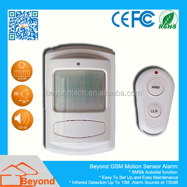 PIR Motion Sensor GSM SMS <strong>Alarm</strong> with Auto Dial and SMS Talk Function