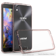 Ultrathin TPU Frame+ Transparent Acrylic Back Cover Case for BlackBerry DTEK50