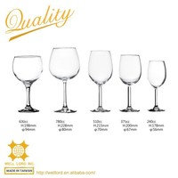 Classic french goblet wine glass