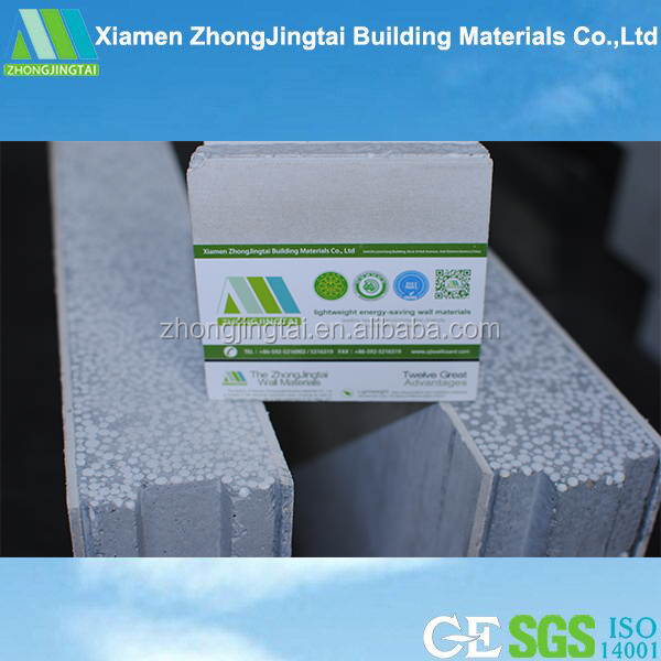 Energy-saving & Sound Insulation Prefab Carriage House 100mm Thickness Non-load Bearing For Exterior Wall Use