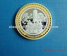 Custom silver plated Coin