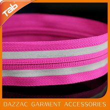 Special apparel accessories double lights led zipper