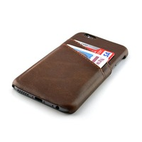 Wholesale Custom Cowhide Leather Mobile Cell Phone Case With Credit Card Holder