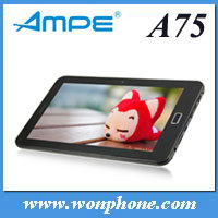 "7"" Ampe A75 android 4.0 Allwinner A13 two camera bluetooth GSM tablet pc"