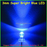 3mm Super Bright Blue LED/Ultra Bright blue led ( CE & RoHS Compliant )