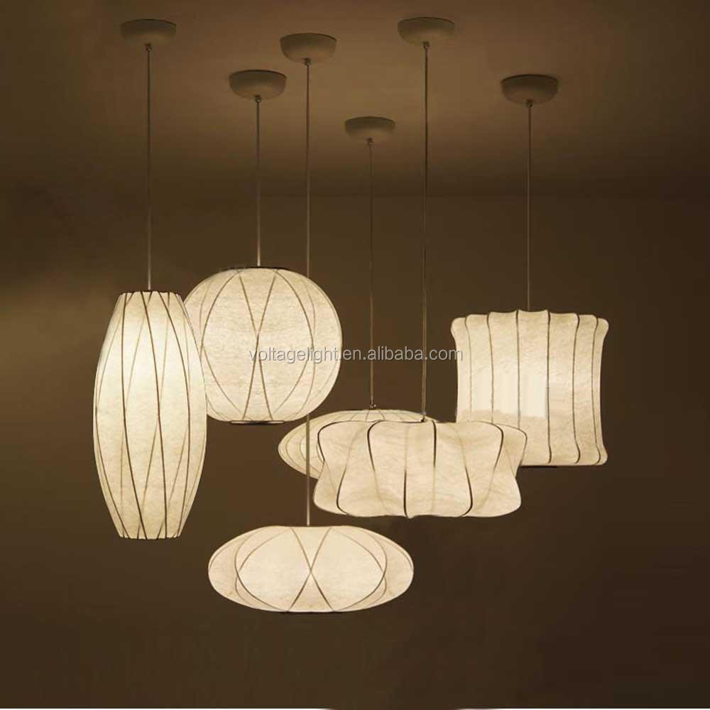 Modern white pendant light decorative saucer premium fabric 12103cg aloadofball Choice Image