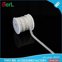 New Arrival small beads plastic base pearl cup chain for sale