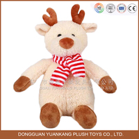 custom handwork christmas plush teddy bear with scarf