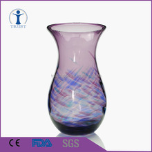 popular Purple Colorful glass vase for house decoration