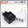 High speed USB QC2.0 3 muliti ports fast charger EU type cell phone