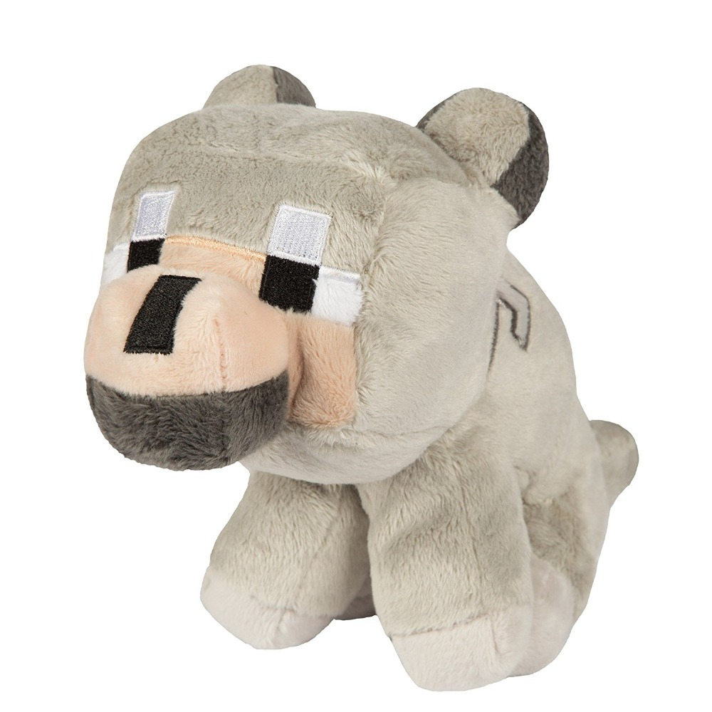 "Wholesale 9"" Grey Baby Wolf <strong>Plush</strong>&Tuxedo Cat With Hang Tag Stuffed Animal"