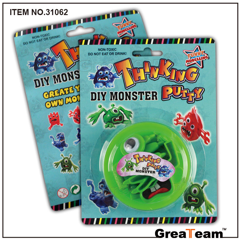 DIY Monster Bouncing Clay Thinking Putty