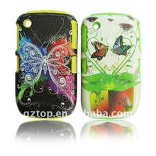 COMBO CELL PHONE ACCESSORIES FOR BLACKBERRY 8520 (TRANSPARENT CASE WITH DESIGN)
