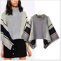 MS67718W new design 2015 winter european stylish hand knitted poncho
