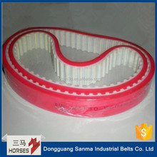 Red Rubber Coated Timing Belt