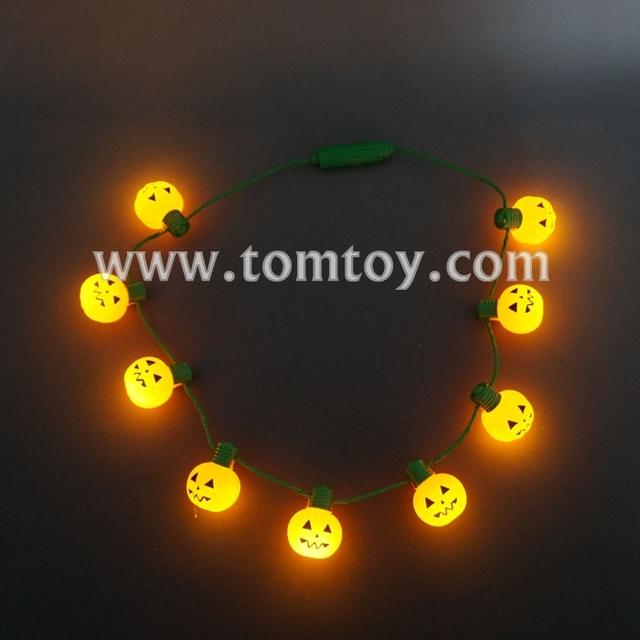 Halloween 9 LED Light Up Pumpkin Necklace