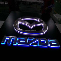 Hot! backlit car logo sign with aluminum back board led logo sign