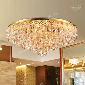 Imperial crown shape crystal ceiling lamps for hotel - Modelos de lamparas led ...