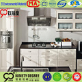 2016 new model custom mdf vanity kitchen cabinet of glass dining table with cutlery