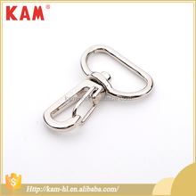 Fashion decorative handbag snap meatal alloy key hook buckles