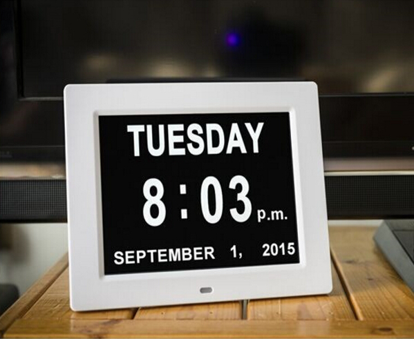 New 8 inch Dated & Day calendar digital wall clock/clock