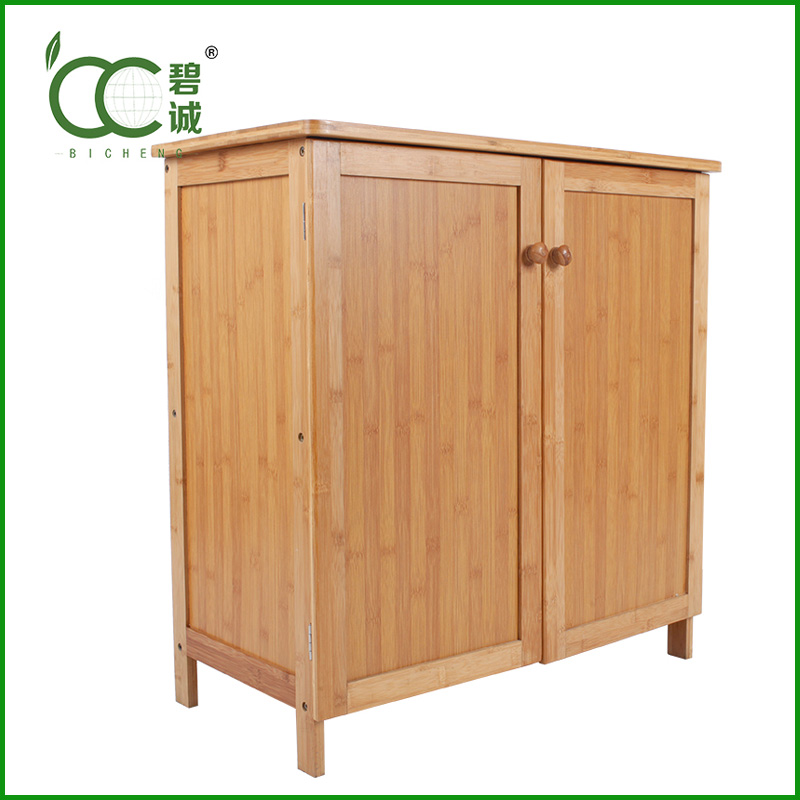 China Suppliers Household Furniture Bamboo Kitchen Cabinet Modern Wholesale