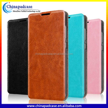 Business style Folio PU Leather Stand flip case for ZTE AXON 7/Retro style Magnet Closing Leather Flip case for ZTE AXON 7