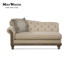French style Antique Wooden Upholstered Fabric Daybed