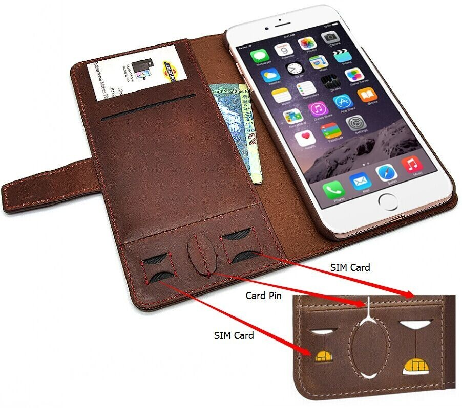 for IPhone 7 case 2017 newest Genuine Leather Wallet Phone Case