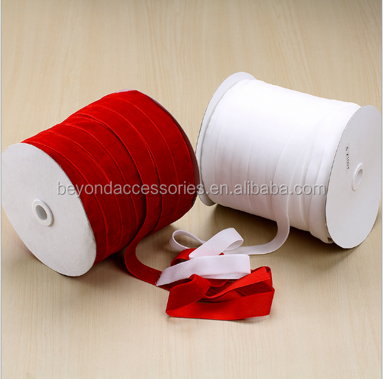 Best price wholesale all size colorful Velvet Ribbon with high quality form Yiwu