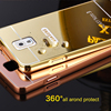 metal bumper electroplate mirror back cover case for samsung note 3