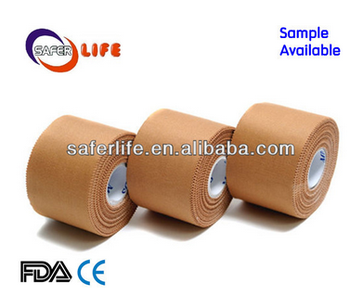 FDA approved high qulity Cotton Rigid Strapping Strong rigid Tape Unbreakable Adhesive zinc oxide tape